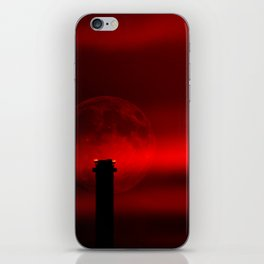 sunset, moon and flight limiting lights iPhone Skin