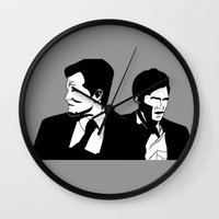 true detective Wall Clocks featuring True Detective by oslacrimale