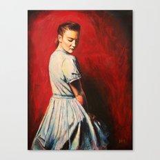 Sarah in a Blue Dress Canvas Print
