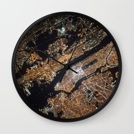 New York From Above Wall Clock