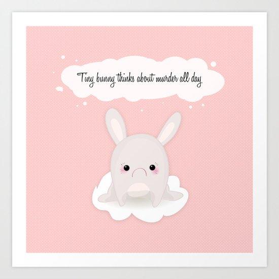 tiny bunny Art Print