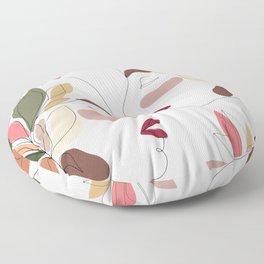Love - Minimal Line Art  Floor Pillow