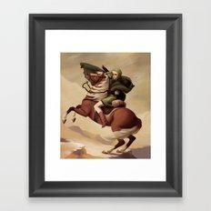 The Hero Crossing Death Mountain Framed Art Print
