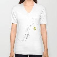 bat V-neck T-shirts featuring bat by Molnár Roland