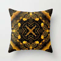 asia Throw Pillows featuring Asia by Lyle Hatch