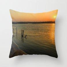 'morning sunshine Throw Pillow