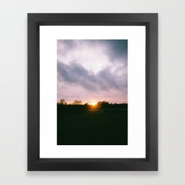 Car at Sunset in New Forest Framed Art Print