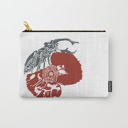 Art Nouveau Beetle & Poppy by Seasons K Designs Carry-All Pouch