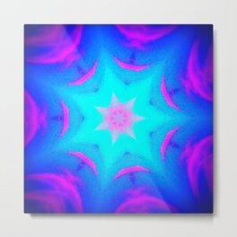 pink & blue starburst Metal Print