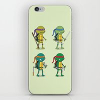 teenage mutant ninja turtles iPhone & iPod Skins featuring Teenage Mutant Ninja Turtles by Glimy