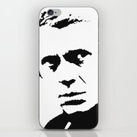steve mcqueen iPhone & iPod Skins featuring Steve-O by Oscar Sierra