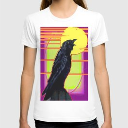 Art Deco Cawing Crow Western Abstract T-shirt
