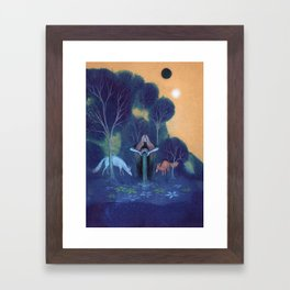Filling the Well Framed Art Print