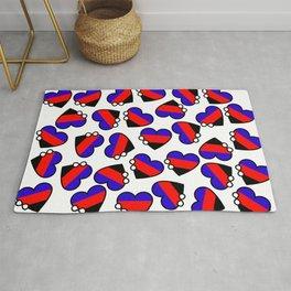 Infinity Heart | Polyamory Flag Rug