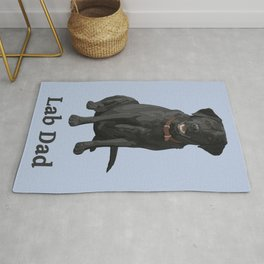 Lab Dad Black Labrador Retriever Rug