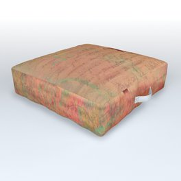 The Kissing Tree, Landscape Art Outdoor Floor Cushion