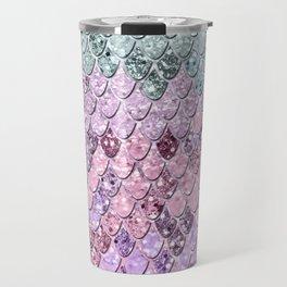 Mermaid Scales with Unicorn Girls Glitter #4 #shiny #pastel #decor #art #society6 Travel Mug