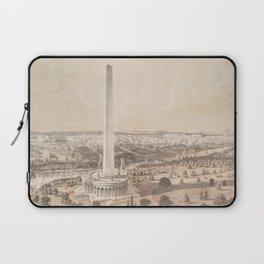 Vintage Pictorial Map of Washington DC (1852) Laptop Sleeve