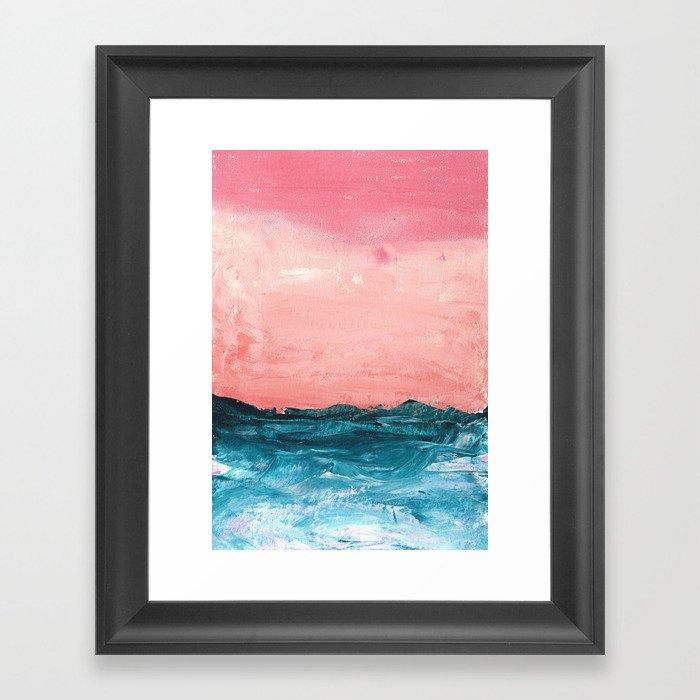 waves #2 Gerahmter Kunstdruck