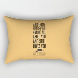 Lab No. 4 - Elbert Hubbard American Writer Motivational Typography Quotes Poster Rectangular Pillow