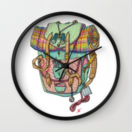 Adventure Backpack Wall Clock