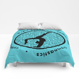 Gymnastic Circle blue Comforters