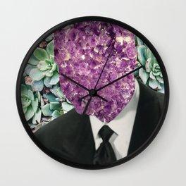 SIR AMETHYST ECHEVERIA Wall Clock