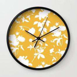 Botanic garden - yellow Wall Clock