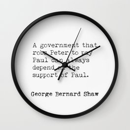 George Bernard Shaw quote 50 Wall Clock