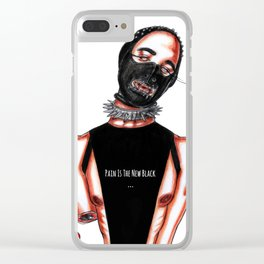 Pain Is The New Black Clear iPhone Case