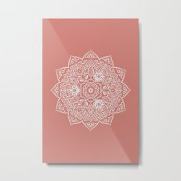 Terra Cotta Mandala Metal Print