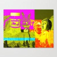 rushmore Canvas Prints featuring Mountain Rushmore  by Latidra Washington