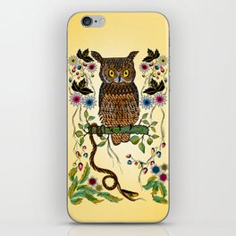 Vibrant Jungle Owl and Snake iPhone Skin