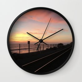 Tracks to San Clemente Wall Clock