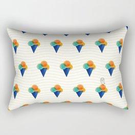 044 Ice cream pattern on the beach Rectangular Pillow