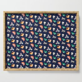 Cute Navy Kawaii Animal Pattern Cartoon Gift Serving Tray