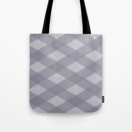 Pantone Lilac Gray Argyle Plaid Diamond Pattern Tote Bag
