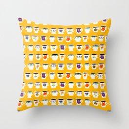 Mug Collection Throw Pillow