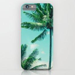Keanae Tropical Summer Palm Trees Maui Hawaii iPhone Case