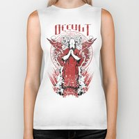 occult Biker Tanks featuring Occult by Tshirt-Factory
