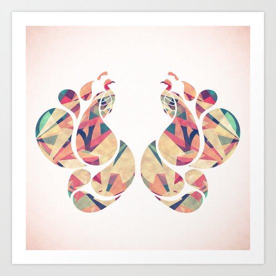 Peacocks Art Print