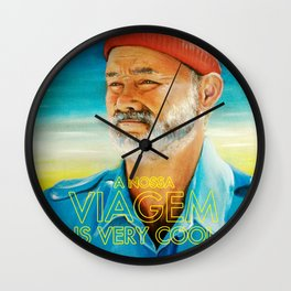 Life aquatic is very cool Wall Clock
