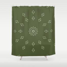 Minimal Lazy Sun Shower Curtain