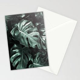 Monstera leaves, Palm Leaf Stationery Cards