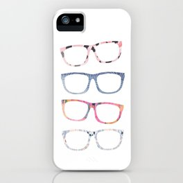 Bespectacled // Watercolor Glasses Print iPhone Case