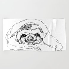 Lazy Slothurday Beach Towel