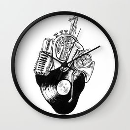 A Musical Heart Wall Clock