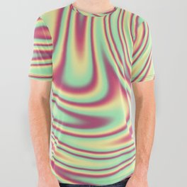 Cherry Lemon Lime Ribbon Candy Fractal All Over Graphic Tee