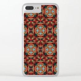 Leaf pattern 1c Clear iPhone Case