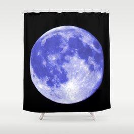 Blue Moon looks like Earth Shower Curtain